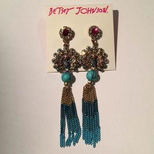 NWT Betsey Johnson Peacock Earrings